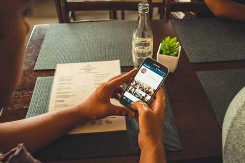 reclame op Instagram smartphone