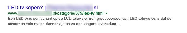hoger in google titel description SEO