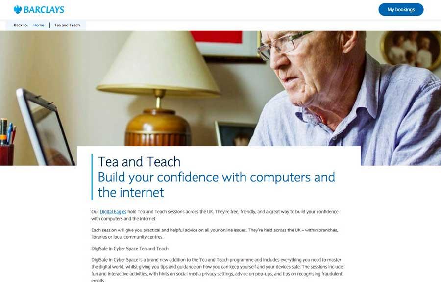 oudere consumenten tea and teach